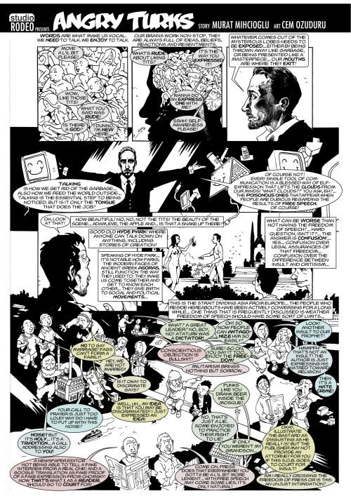 Londra Free Word Centre'da Sergilenecek Çizgi Öyküler / Angry Turks / sayfa 1
